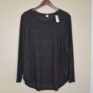 NWT Plush-Knit Scoop-Neck Tee